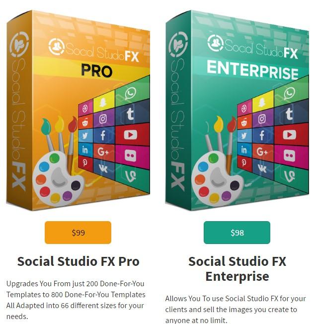 Social Studio FX Upsells