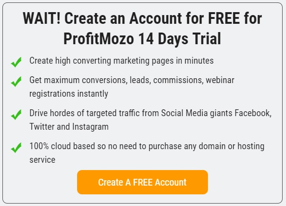 Click Here to Create Free Trial ProfitMozo Account